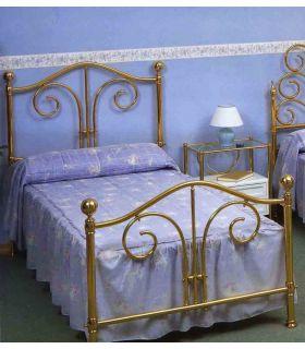 Acheter en ligne Têtes de lit et lits en laiton: modèle AMIENS.