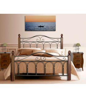Acheter en ligne Lits fets en fer forgé et bois: modèle AFRIQUE-ROSE.