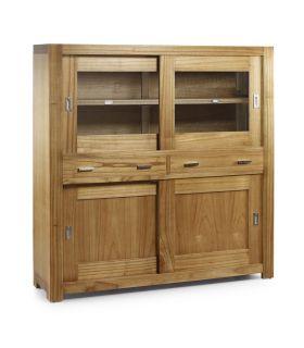Acheter en ligne Meuble vitrine en bois : Collection NATURAL