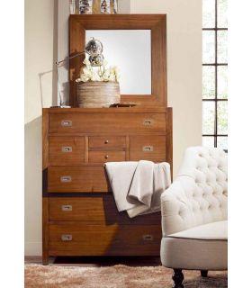 Acheter en ligne Commode en bois : Collection STAR 8 tiroirs