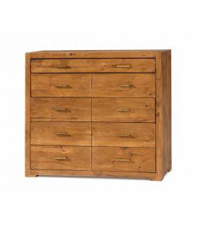 Acheter en ligne Commodes en Bois : Collection STUDIO 9 tiroirs
