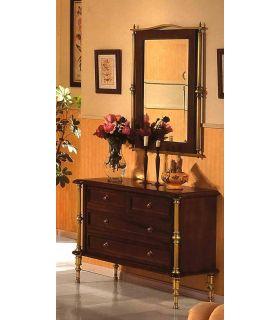 Acheter en ligne Commodes en laiton et bois: modèle 1045.