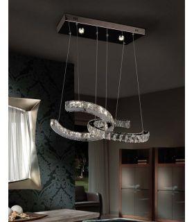 Acheter en ligne Suspension LED en Verre Facetté : Modèle CALA