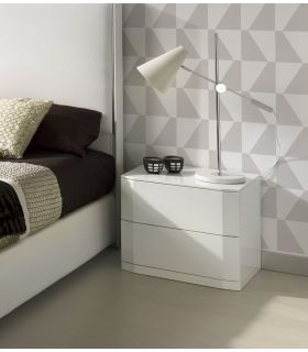 Acheter en ligne Table de chevet en bois laqué blanc VALLAURIS