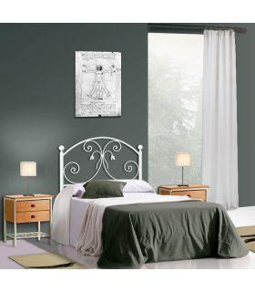 Acheter en ligne Têtes de lit en fer forgé: modèle LOUHANS.