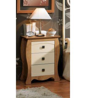 Acheter en ligne Tables de nuit en bois: modèle VIENNE à 3 tiroirs