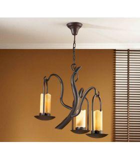 Acheter en ligne Lampes suspendues en Fer Forgé : Modèle CANDELA à 3 Lumières
