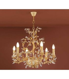 Acheter en ligne Lampes florentines: modèle VERDI (or, à 6 ampoules.)