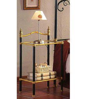Acheter en ligne Tables de nuit en laiton et fer forgé: modèle 1065.