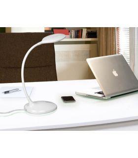Acheter en ligne Lampe de Table LED d?étude : Modèle SCOOP Blanc