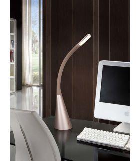 Acheter en ligne Lampe à Poser d?étude LED : Modèle LAIN Champagne