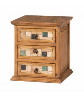 Acheter en ligne Tables de Chevet en Bois et Marbre : Collection MARBLE