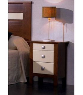 Acheter en ligne Tables de nuit en bois: modèle MONACO.