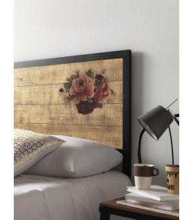 Acheter en ligne Tête de lit au style vintage : Modèle FLORAL