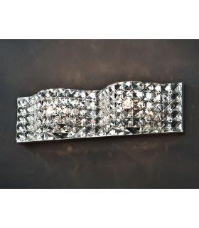 Acheter en ligne Applique en verre : Collection ONDA 2-flammes