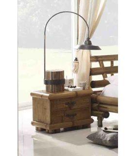 Acheter en ligne Tables de nuit en bambou: modèle TSU (naturel)