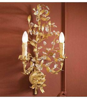 Acheter en ligne Appliques florentines: modèle VERDI (à 2 ampoules, or)
