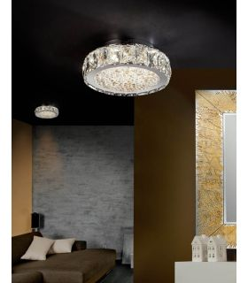 Acheter en ligne Plafonniers LED avec Verre Facetté : Collection DANA PQ