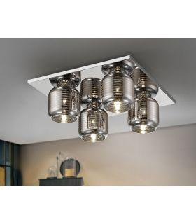 Acheter en ligne Plafonnier avec 4 lumières : Collection VIAS