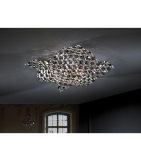 Acheter en ligne Plafonnier moderne : Collection SATEN 4 lumières