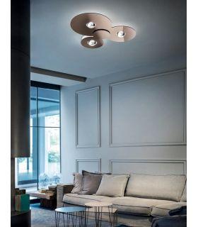 Acheter en ligne Plafonnier design moderne : Modèle BUGIA Triple
