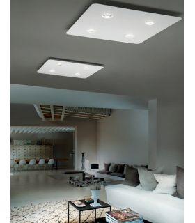Acheter en ligne Plafonnier moderne : Modèle FROZEN 4 lumières