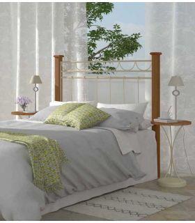 Acheter en ligne Têtes de lit en Forge et Bois: Modèle FRANCHE-COMTÉ