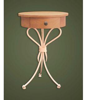 Acheter en ligne Tables de nuit en fer forgé: modèle ÉTAPLES.