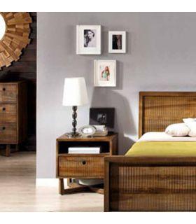 Acheter en ligne Tables de Chevet en Bois : Collection CALVIN