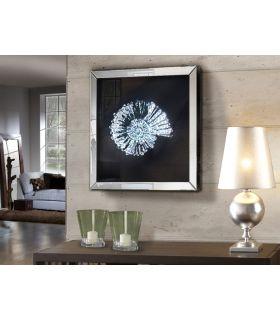 Acheter en ligne Tableau Décoratif avec Cadre en Miroir : Modèle FOSIL