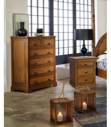 Chifonier en madera natural de Mahogany : Colección ALAMANDA