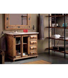 Acheter en ligne Meubles Salle de Bain en Bois Naturel : Collection TRONC