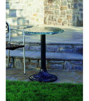Pie mesa de fundición Aluminio Mod. PALMERA redonda.
