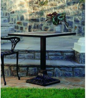 Acheter en ligne Pieds de table en fonte d'aluminium: modèle PALMIER (carré)