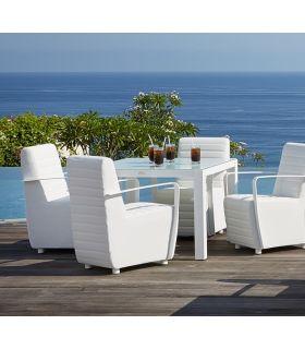 Acheter en ligne Table carrée pour terrasse et jardin : Collection AXIS