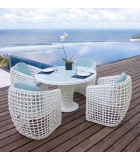 Acheter en ligne Table à manger ronde pour terrasse et jardin : Collection DYNASTY