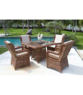 Acheter en ligne Table carrée pour terrasse et jardin : Collection EBONY