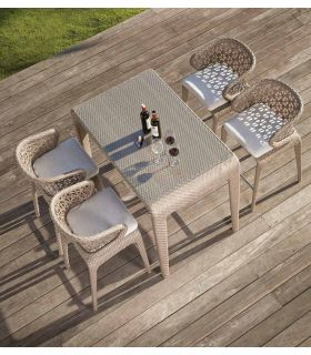 Acheter en ligne Table à manger pour terrasse et jardin : Collection JOURNEY