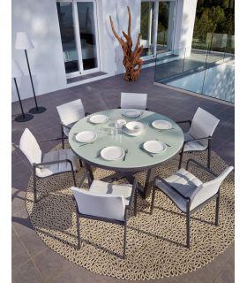 Acheter en ligne Table à manger ronde pour l'extérieur : Modèle SANTA MONICA
