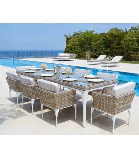 Acheter en ligne Table à manger rectangulaire d'extérieur : Collection BRAFTA