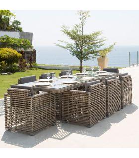 Acheter en ligne Table à manger rectangulaire d'extérieur : Collection CASTRIES
