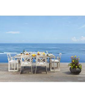 Acheter en ligne Table à manger rectangulaire pour extérieur : Collection RHONE