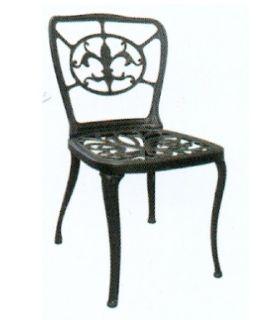 Acheter en ligne Chaises et fauteuils en fonte d'aluminium: modèle FLEUR DE LYS.