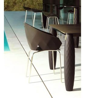 Acheter en ligne Set de 4 chaises design pour l'extérieur : Collection VASES