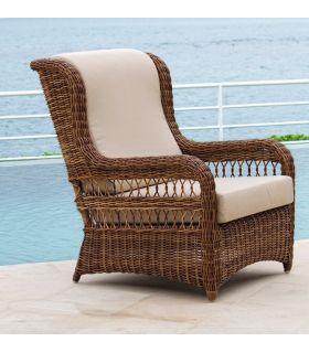 Acheter en ligne Fauteuil en rotin pour jardin et terrasse : Collection EBONY