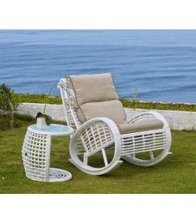 Acheter en ligne Rocking-chair pour terrasse et jardin : Collection DYNASTY