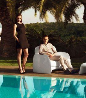 Acheter en ligne Fauteuil design en résine : Collection PEZZETTINA