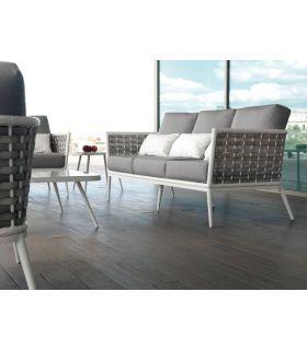 Acheter en ligne Canapé 3 places en aluminium et rotin synthétique : CollectionVIENA