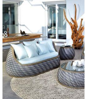 Acheter en ligne Canapé avec 2 places pour terrasse et jardin : Collection CASA