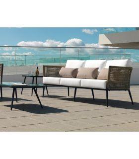 Acheter en ligne Canapé d'extérieur avec 3 places : Collection ROMA